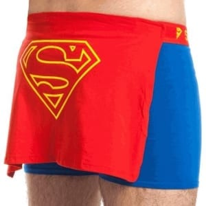 Superman Caped Logo Adult Blue Boxer Brief