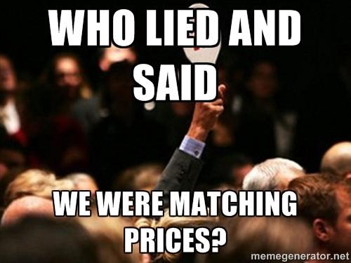 Matching prices